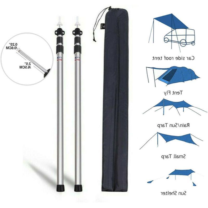 telescoping tent pole 90 inch aluminum adjustable