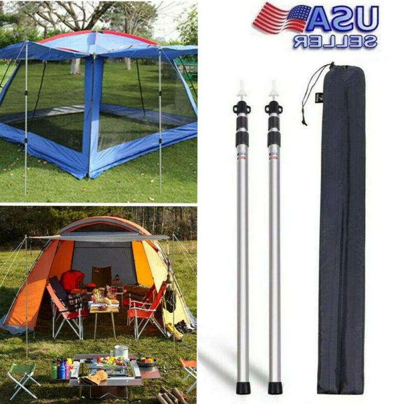 tent accessories adjustable telescoping tarp poles set
