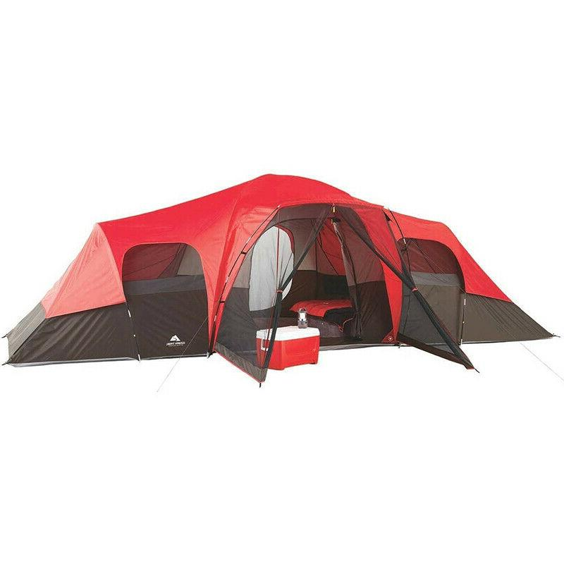 Tent Camping Outdoor Large 3 Room 10 Person Family Outing Ba