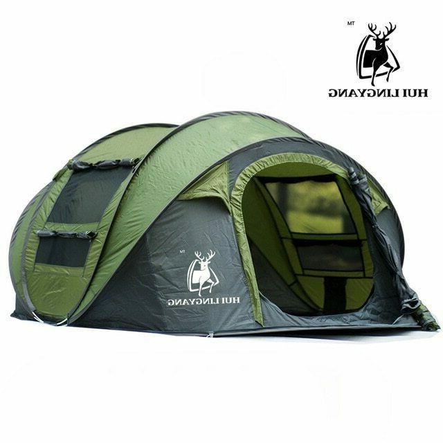 Tent pop up hiking, large family