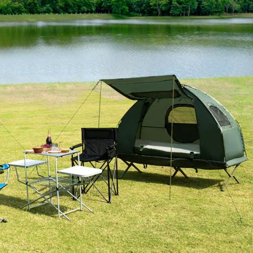 2-Person Compact Portable Pop-Up Tent Air Mattress and Sleep