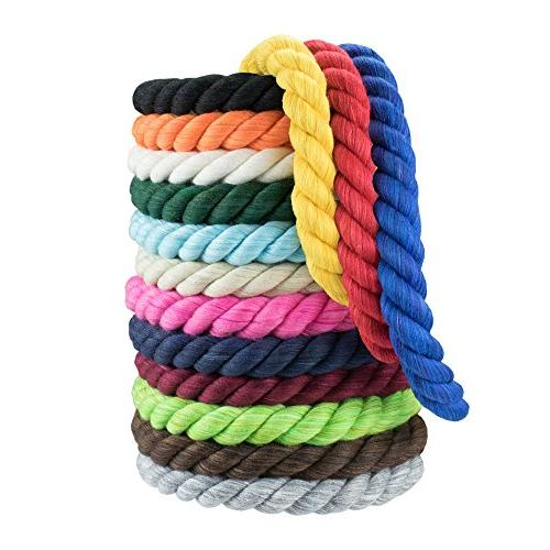 twisted cotton rope 3 strand
