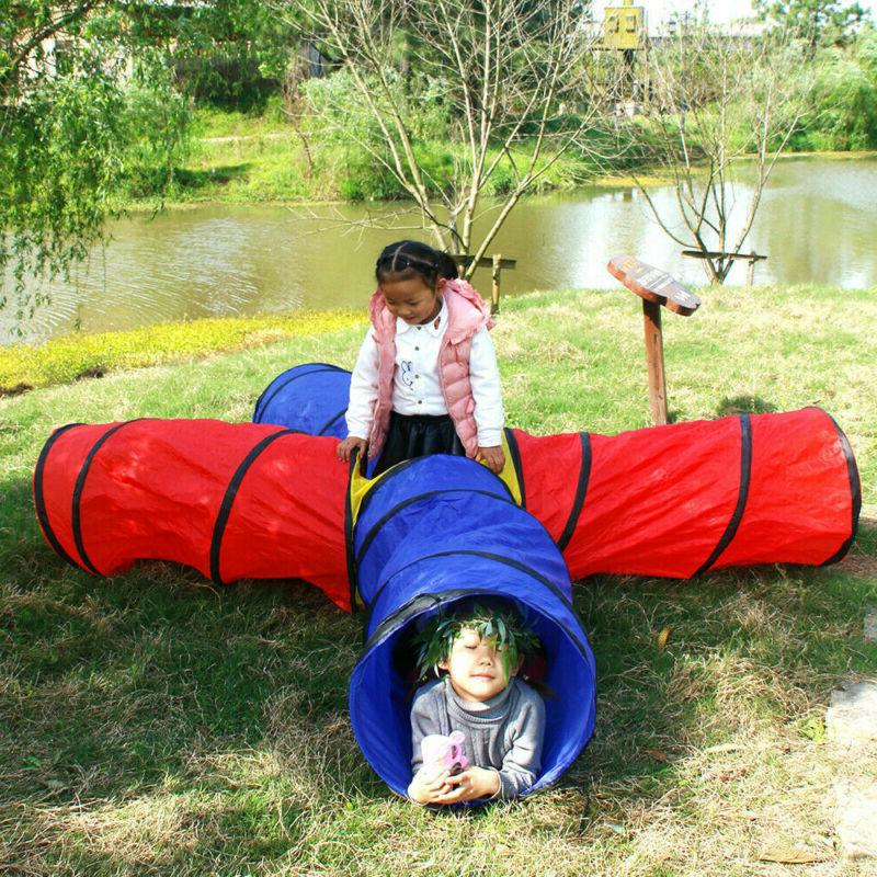 US Kids Baby 4-way Play Tunnel 8 Feet Pop up Tent Baby Play