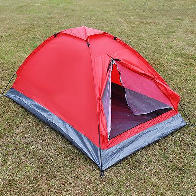 Waterproof 2 Person Tent Travel Hiking Backpack Red