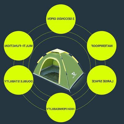 Waterproof 3-4 People Instant Green Camping Hiking