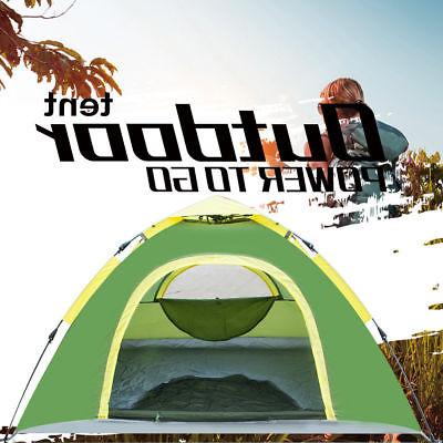 Waterproof 3-4 Instant Up Tent Green Camping Hiking