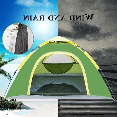 Waterproof People Instant Pop Up Tent Green
