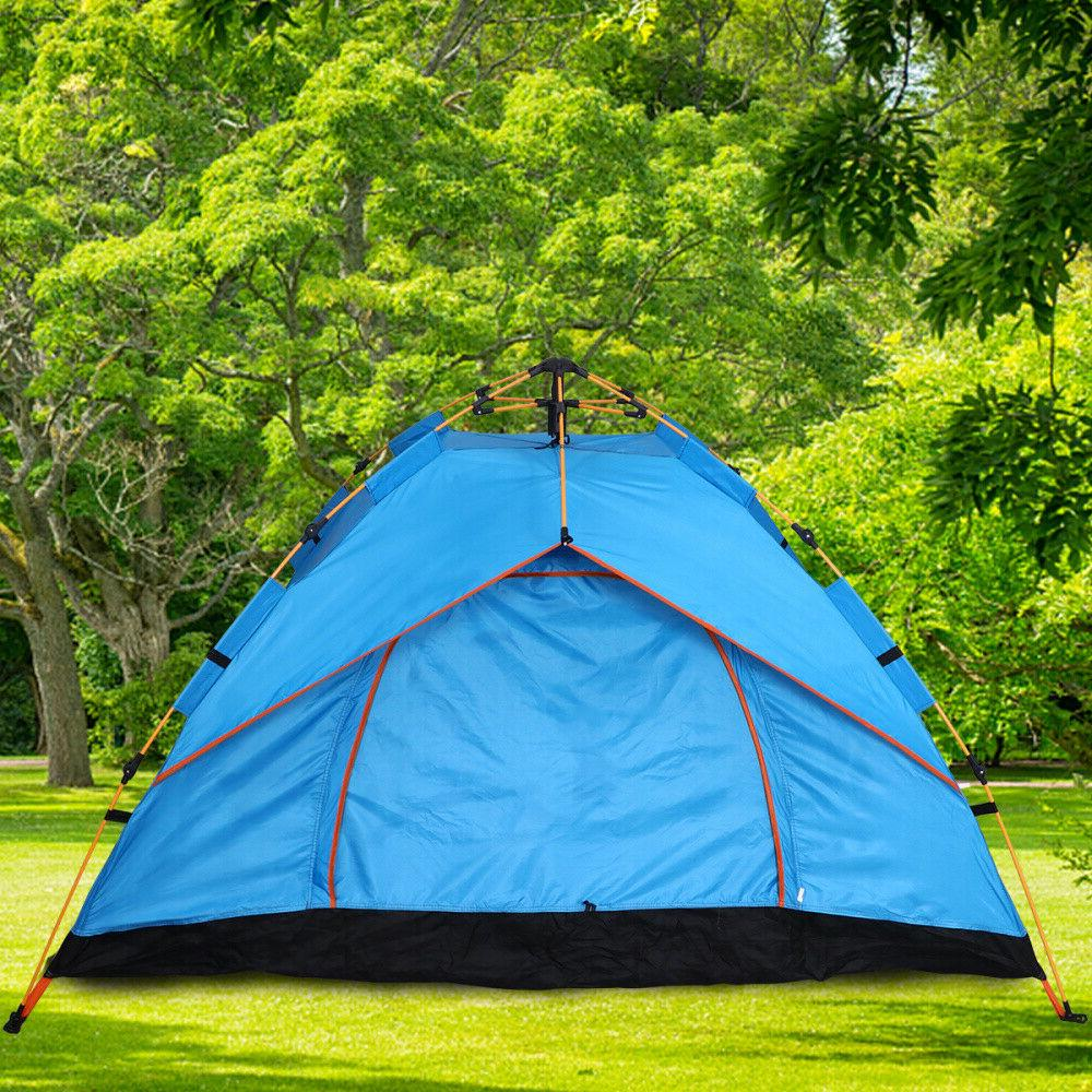 US 3-4 Person Pop-Up Tent Backpacking Waterproof