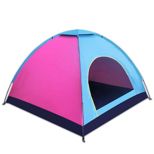 4 Person Camping Dome Tent Instant Pop Up Waterproof Double