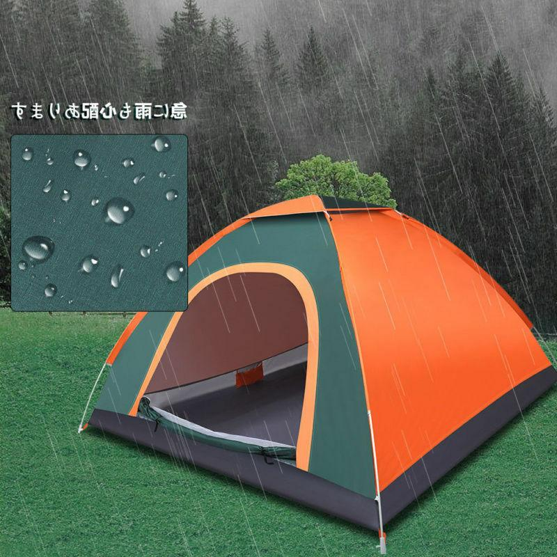 Waterproof 3-4 Camping Tent Automatic Pop Quick