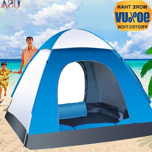 Waterproof 3-4 Camping Tent Automatic Quick Outdoor Hiking