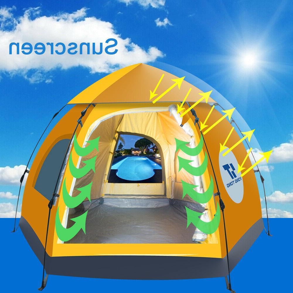 Waterproof 5-6 People Instant Tent Hiking
