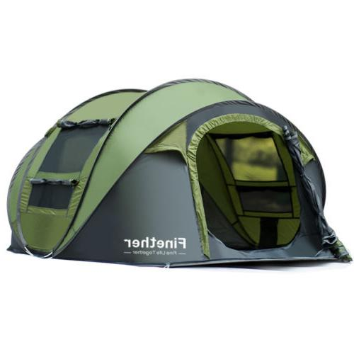 Waterproof People Pop Family Tent Camping Hiking Tent