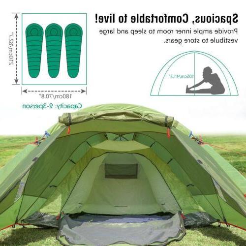 MoKo Waterproof Family Tent, 3 Season Backpacking