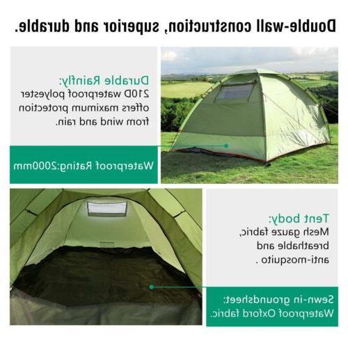 MoKo Waterproof Camping Tent, 3 Season Tent