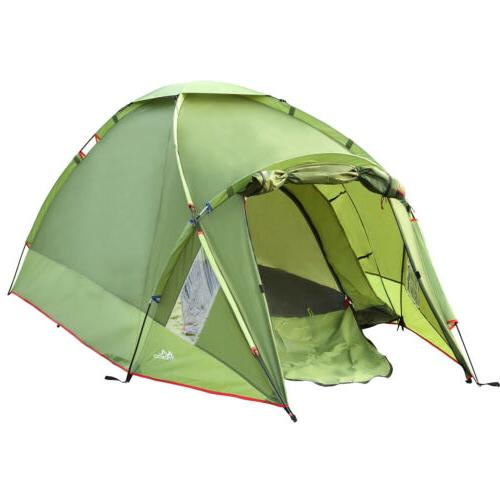 waterproof camping tent double layer 3 person