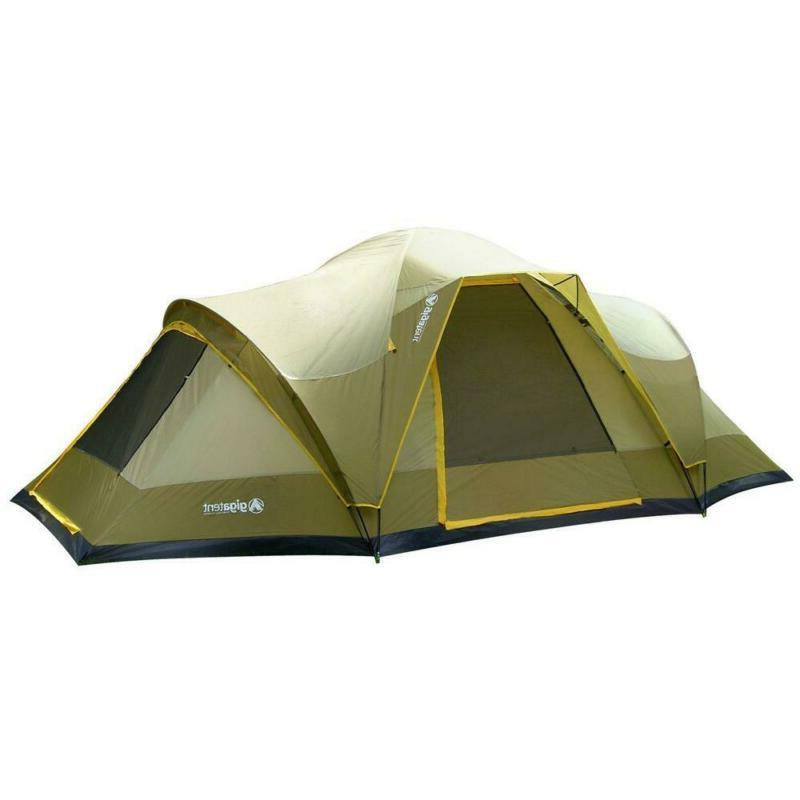 GigaTent Wolf Mountain 18 ft. x 10 ft. 3 Room 3 Doors 5-6 Pe