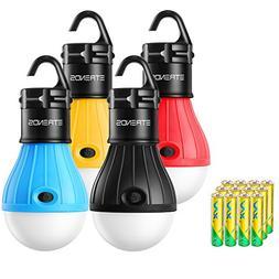 E-TRENDS 4 Pack LED Lantern Tent Light Bulb for Camping Hiki