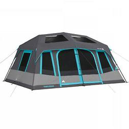 Large 10-Person Instant Cabin Tent Dark Rest Blackout Window