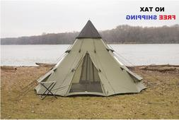 Large Camping Tent 6 Person Family Teepee Outdoor Shelter Hi