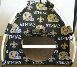Small New Orleans Saints Pup Tent Pet Bed/ Cat Bed/ Dog Bed/