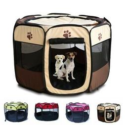 Large Pet Dog Bed Cat Playpen Tent Puppy Exercise Fence Kenn