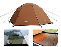 Luxe Tempo Lightweight 4 Person Tent Freestanding for Backpa