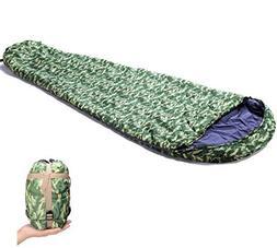 Geertop Lightweight Compact Mummy Sleeping Bag with Compress