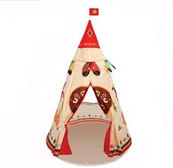 Lightweight Folding Kids Indian Teepee Tent Play House For I