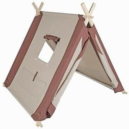 """Pacific Play Tents Natural Linen Kids """"A-Frame"""" Teepee Playh"""