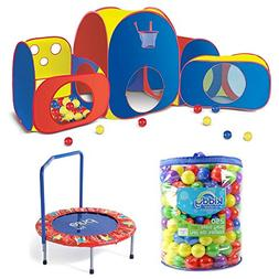Kids Mega Fun Play Tent With Kiddy Up 250 Count Pit Balls &