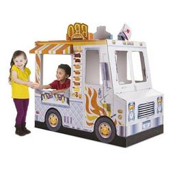 Melissa & Doug Food Truck Indoor Corrugate Playhouse Over 4