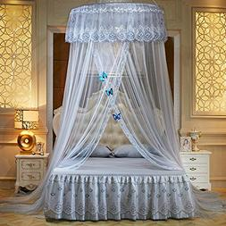 WLHOPE Mosquito Net Canopy Ceiling Stylish Lace Princess But