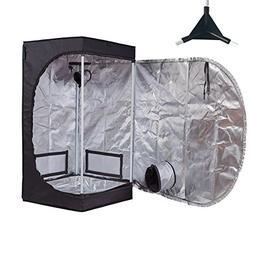 """TopoGrow Multiple Sized D-Door 24""""X24""""X48"""" Indoor Grow Tent"""