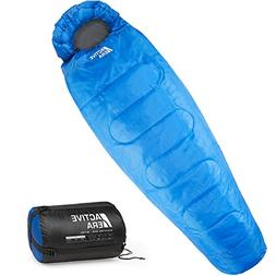 Active Era Mummy Sleeping Bag with Compression Sack for 3-4