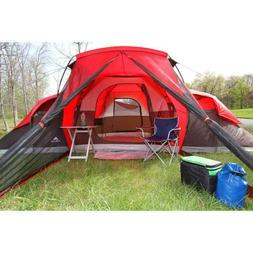 New Ozark Trail 10-Person Red Large Huge Family Camping Tent