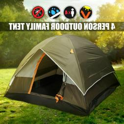 NEW 3-4 Person Camping Tent 210T Waterproof Double-layer Fam
