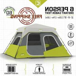 NEW Core 6 Person Instant Cabin Tent Instant Set Up Floor Ar