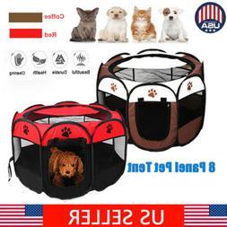 New 600D Oxford Portable Pet Puppy Soft Tent Playpen Dog Cat