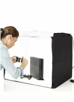 New Amazon Photo Studio Box Portable with LED Light 25 x 30