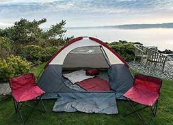 NEW- Camping Set, 1 Tent, 2 Sleeping Bags, 2 Folding Travel