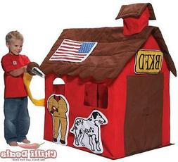 New Cubby Kids tent indoor set cover fire play house playhou