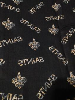 "New Orleans Saints 1/4 Yd, 9"" x 44"" NFL Cotton Football Fabr"