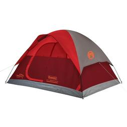 NEW!!!!!!!  COLEMAN RED/GRAY 4 PERSON DOME TENT