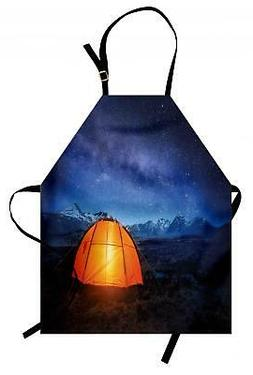 Night Apron Camp Tent Holiday Journey Unisex Kitchen Bib wit