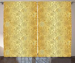Oriental Curtains 2 Panel Set Decoration 5 Sizes Window Drap