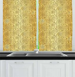 "Oriental Kitchen Curtains 2 Panel Set Window Drapes 55"" X 39"