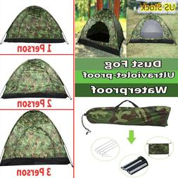 Outdoor Camping Waterproof 1/2/3-4 Person Folding Tent 4Seas
