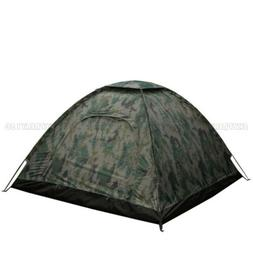 Outdoor Camping Waterproof 4 Person Folding Tent Camouflage