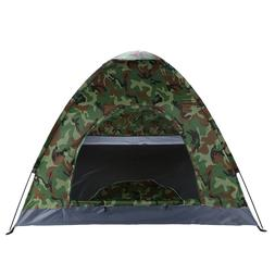 Outdoor Family Camping Waterproof 4 Person Folding Tent Camo